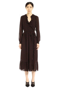 Ruffled hem dot-print long dress, Printed dresses MICHAEL MICHAEL KORS woman