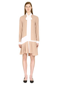 Scarf collar silk shirtdress, Mini dresses N°21 woman