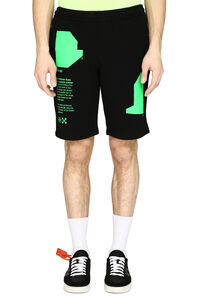 Short stretch cotton track-pants, Shorts Off-White man