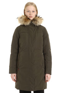 Luxury Boulder parka with fur trimmed hood, Down Jackets Woolrich woman