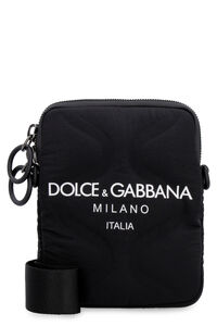 Leather and nylon messenger bag, Messenger bags Dolce & Gabbana man