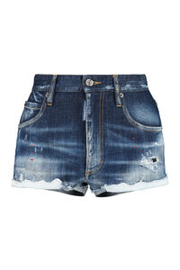 Denim shorts, Denim Shorts Dsquared2 woman