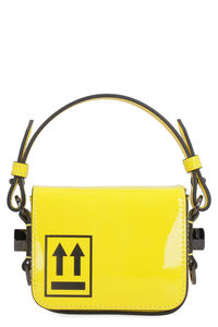 Binder Clip patent leather mini-bag, Top handle Off-White woman