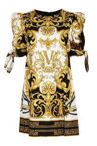 Printed silk dress, Printed dresses Versace woman
