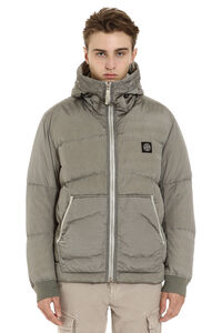 Full zip padded hooded jacket, Down jackets Stone Island man