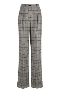 Prince of Wales check wool trousers, Wide leg pants Dolce & Gabbana woman
