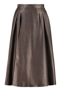 Leather full skirt, Midi skirts Dolce & Gabbana woman