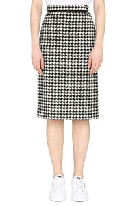 Houndstooth check pencil skirt, Pencil skirts MSGM woman