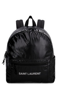 Logo nylon backpack, Backpack Saint Laurent man