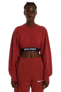 Logo print cropped t-shirt, Crop tops Palm Angels woman