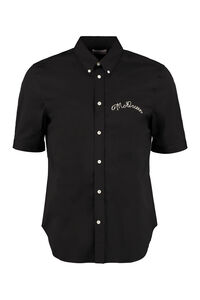 Short sleeve stretch cotton shirt, Short sleeve Shirts Alexander McQueen man