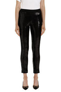 Sequined trousers, Leggings Parosh woman