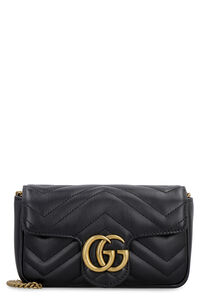 Quilted leather wallet on chain, Clutch Gucci woman