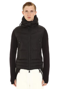 Cardigan with padded frontal panel, Cardigans Moncler Grenoble man