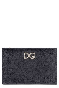 Dauphine-print leather wallet, Wallets Dolce & Gabbana woman