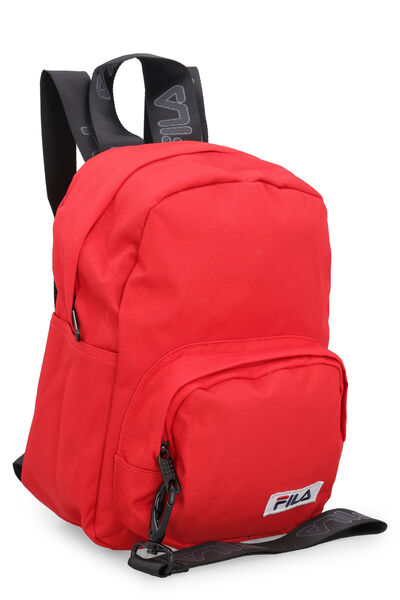 Technical fabric backpack with logo