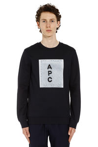 Cotton sweatshirt with logo, Sweatshirts A.P.C. man