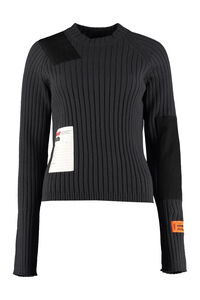Ribbed crew-neck sweater, Crew neck sweaters Heron Preston woman