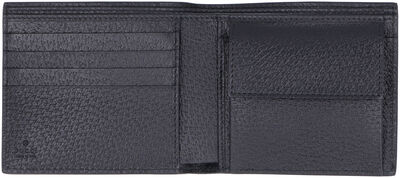 Marmont leather flap-over wallet