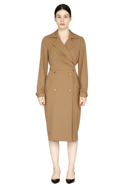 Lucia virgin wool double-breasted dress