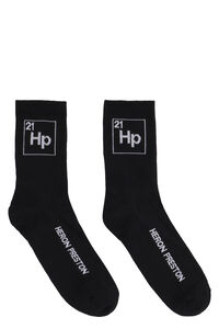 Logo detail sport socks, Socks Heron Preston man