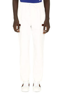 High-rise cotton trousers, Track Pants Gucci man
