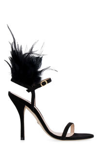 Ricki feathers suede sandals, High Heels sandals Stuart Weitzman woman