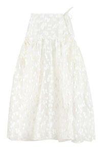 Lilly embroidered full skirt, Midi skirts Cecilie Bahnsen woman