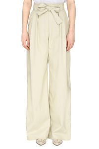 Faux leather wide leg trousers, Leather pants MSGM woman
