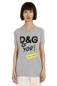 Printed cotton t-shirt, T-shirts Dolce & Gabbana woman