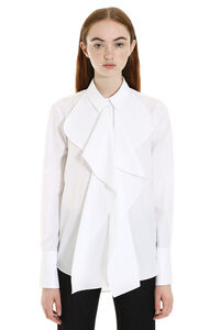 Ruffled cotton shirt, Shirts Alexander McQueen woman