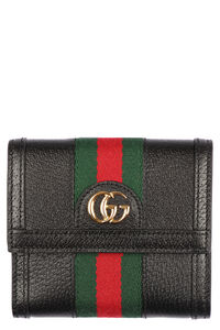 Ophidia leather fold wallet with GG detail, Wallets Gucci woman