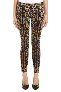 Printed stretch cotton trousers, Skinny leg pants Dolce & Gabbana woman