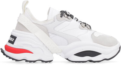 Giant K2 leather sneakers with technical fabric inserts