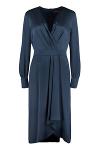 Legenda envers satin dress, Knee Lenght Dresses Max Mara Studio woman