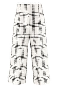 Checked tweed trousers, Wide leg pants MSGM woman