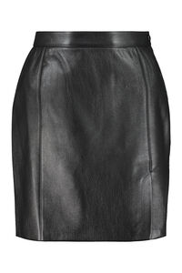 Gima leather mini skirt, Leather skirts Nanushka woman