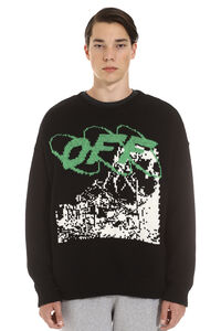 Intarsia crew-neck sweater, Crew necks sweaters Off-White man