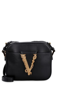 Virtus leather crossbody bag, Shoulderbag Versace woman
