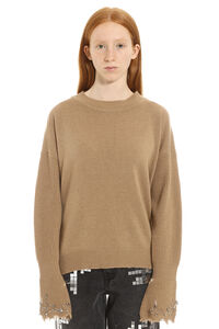 Coreano long-sleeved crew-neck sweater, Crew neck sweaters Pinko woman