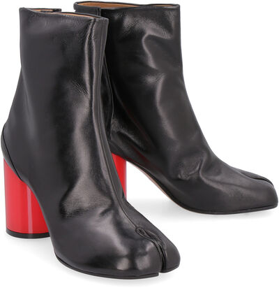 Tabi Hologram leather ankle boots