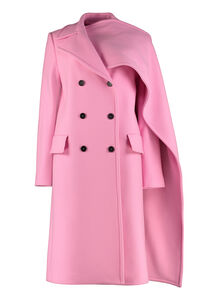 Wool blend double-breasted coat, Double Breasted MSGM woman