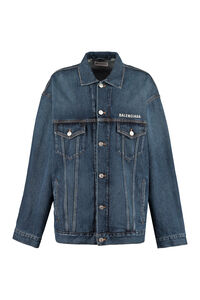 Embroidered denim jacket, Denim Jackets Balenciaga woman