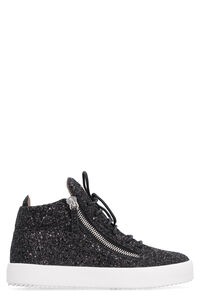 Glitter fabric mid-top sneakers, High Top sneakers Giuseppe Zanotti woman