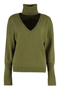 Wool and cashmere sweater, V neck sweaters Federica Tosi woman