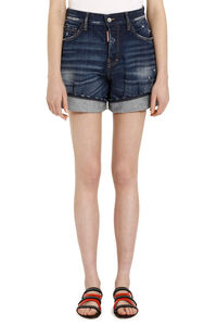 Denim shorts with roll-up cuffs, Denim Shorts Dsquared2 woman