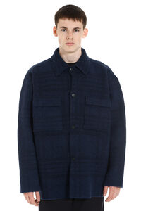 Checked wood jacket, Overcoats Jacquemus man