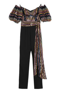 Sequin top jumpsuit, Evening jumpsuits Self-Portrait woman