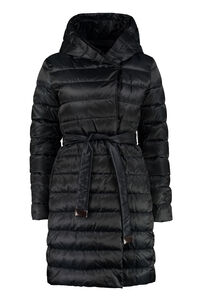 Novef reversible down jacket with double waist belt, Down Jackets Max Mara woman