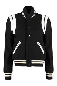 Wool-blend bomber jacket, Bomber Saint Laurent woman